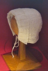 Baby bonnet made by Margaret Wooler for Charlotte Brontë