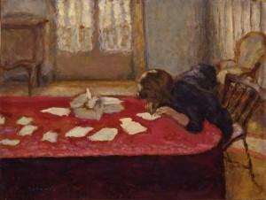 Young Woman Writing, Pierre Bonnard, 1908.
