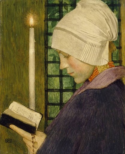 Marianne Stokes, Candlemas Day, c. 1901