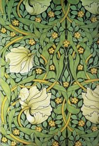William Morris wallpaper featuring Scheele's Green - a pigment discovered by Swedish chemist Carl Wilhelm Scheele in 1775, which was made using acidic copper arsenite