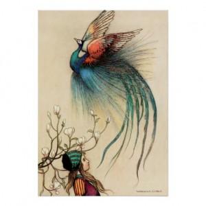 Warwick Goble's Illustration for 'The Juniper Tree' [public domain image]