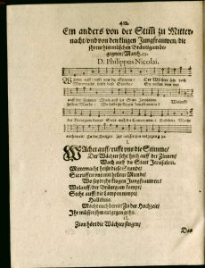 Philip Nicolai's hymn, from Freudenspiegel deß ewigen Lebens (p. 412)